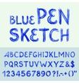 Pen sketch alphabet vector image vector image