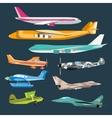 Civil aviation travel passanger air plane vector image