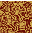 valentine day gold seamless wallpaper pattern with vector image vector image