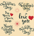 set of hand drawn lettering vector image
