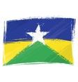 Grunge Rondonia flag vector image