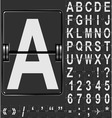 Airport display alphabet vector image