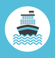 cruise ship design vector image
