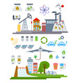 green city infographic set elements vector image