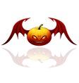 Halloween pumpkin with wings vector image