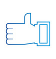 hand like ok technology social media vector image