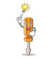 have an idea screwdriver character cartoon style vector image