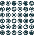 Reload icons isolated on white background set loop vector image