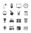 Room Icons Set vector image