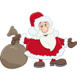 santa with sack cartoon vector image