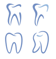 teeth drawing vector image vector image