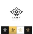 Eye logo or looking control icon vector image