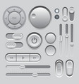 Gray Web UI Elements Design vector image