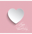 polka dot valentines heart background 0512 vector image