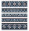 Set of borders frames with ancient ornaments vector image vector image