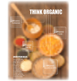organic food theme template vector image vector image