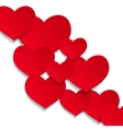 white hearts background vector image vector image