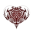 Tribal art heart shape tattoo vector image