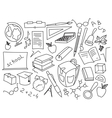 Doodle set of learning vector image
