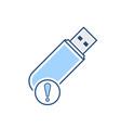 alert disk drive flash storage usb icon vector image
