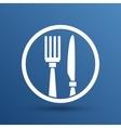 Food service logo design template cafe vector image