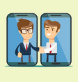 good deal negotiations businessman and vector image