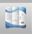 tri-fold brochure design templates with modern vector image