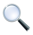 Magnifying glass isolated on white background vector image vector image