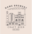 brewery building in retro style vector image vector image