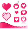 Pixel Heart Design Kit vector image