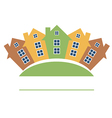 Color residential buildings logo vector image