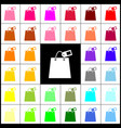 shopping bag sign with tag  felt-pen 33 vector image
