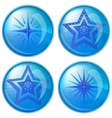 buttons stars vector image vector image