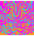 Abstract blue orange and pink moire acid pattern vector image