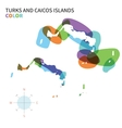 Abstract color map of Turks and Caicos vector image
