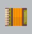 accordion icon oktoberfest festival concept vector image