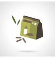 Baby food flat color design icon vector image