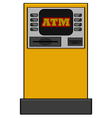Bank machine vector image