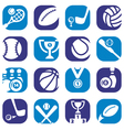 color sports icons vector image