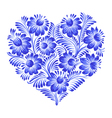 floral decorative ornament heart vector image
