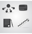 Four Business Icons vector image