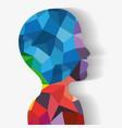 geometric body icon vector image