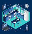 isometric smart kitchen template vector image