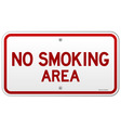 No Smoking Area Notice vector image