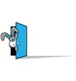 Rabbit Door vector image