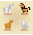 set of 4 little cute pony vector image