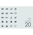 Set of car dashboard icons vector image