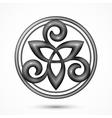 stone celtic triskel symbol vector image