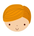 little cute boy isolated icon vector image