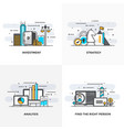 flat line designed concepts 7-colored vector image